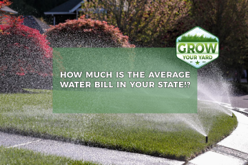 how much is the average water bill in your state